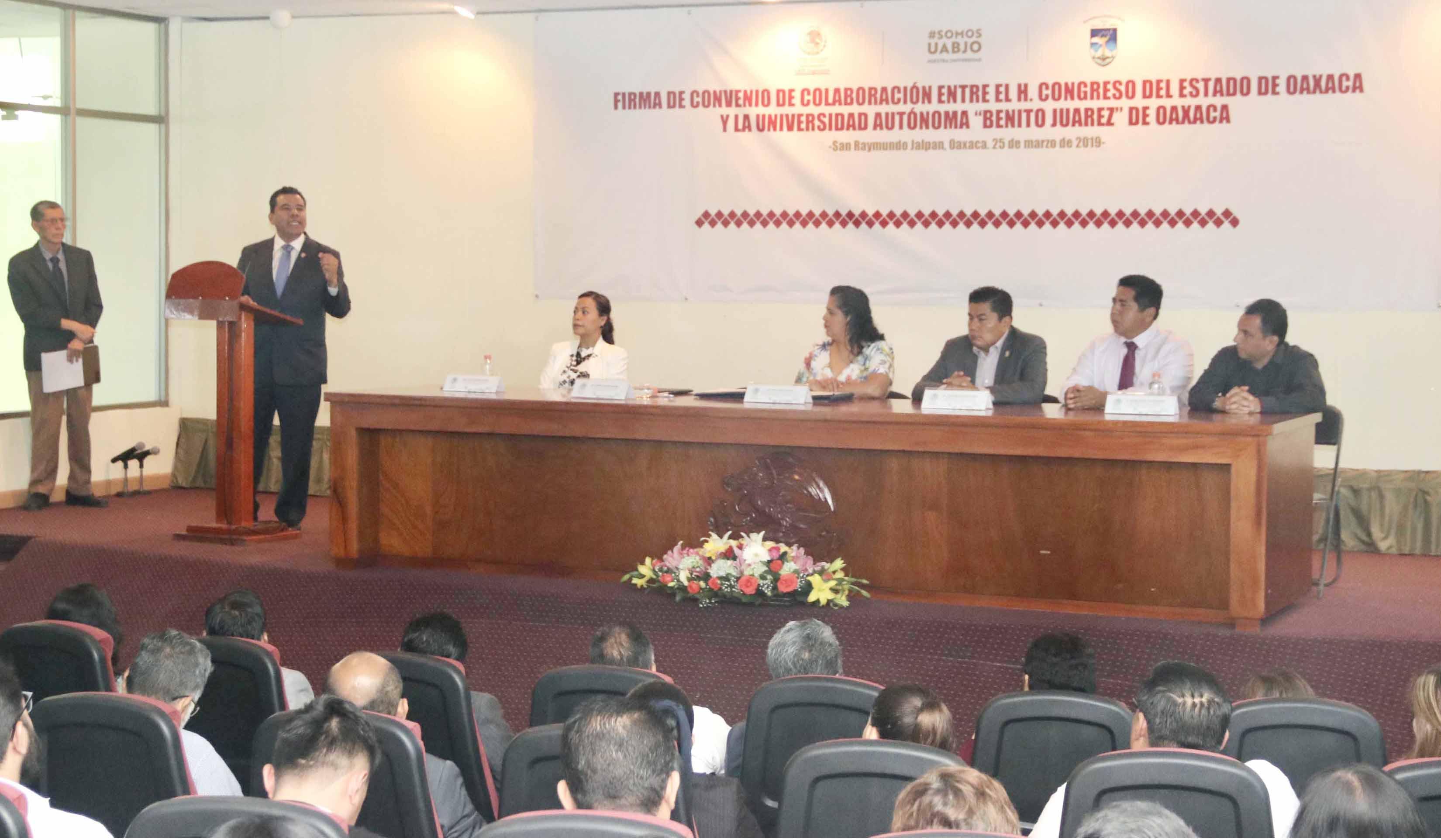 Convenio UABJO Congreso 2