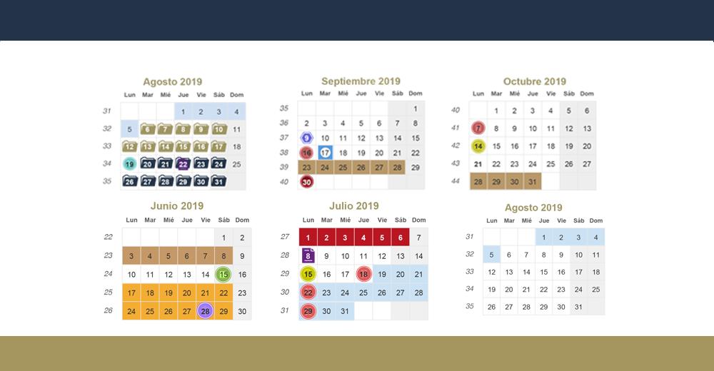 Calendario.Calendarios Escolares Uabjo